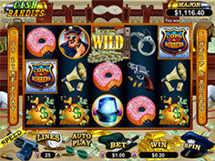 Cash Bandits - RTG Slot with a Crack the Safe Bonus