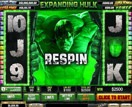 The Incredible Hulk Slot Screenshot