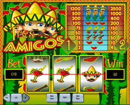 Tres Amigos Slot Screenshot