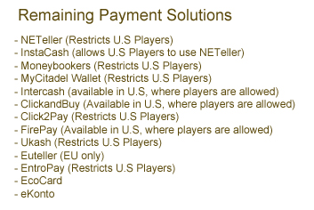Payment Solutions Available